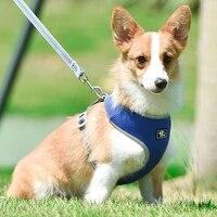 dog pet harness vest adjustable soft breathable nylon mesh vests harnesses for dogs puppy collar cat pet dog chest strap