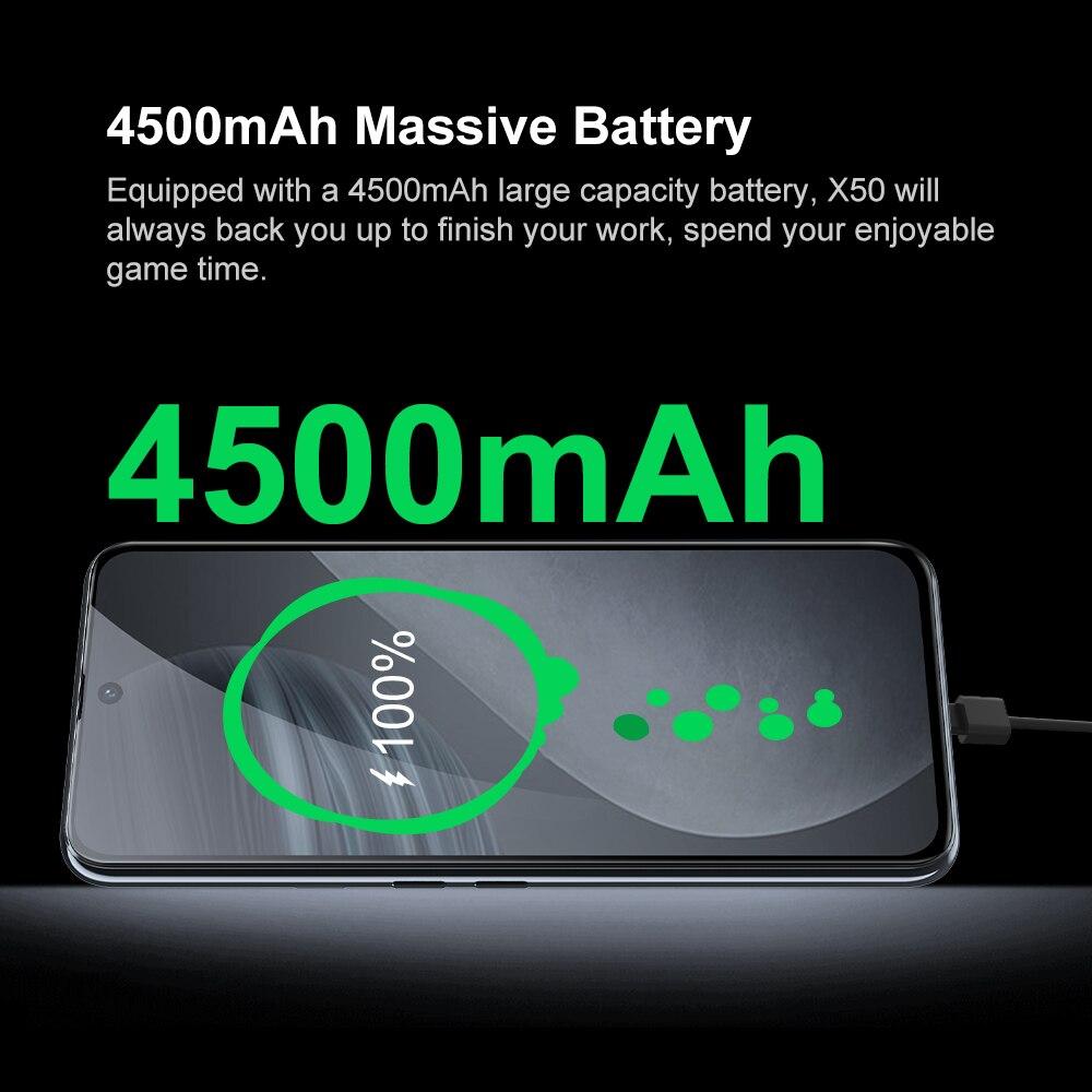 Cubot X50 Smartphone 8GB RAM 64MP Quad Camera 6.67