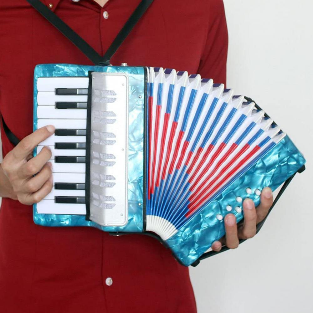 17 Keys 8 Bass Mini Piano Accordion Music Instrument Toy for Children Beginner enlarge