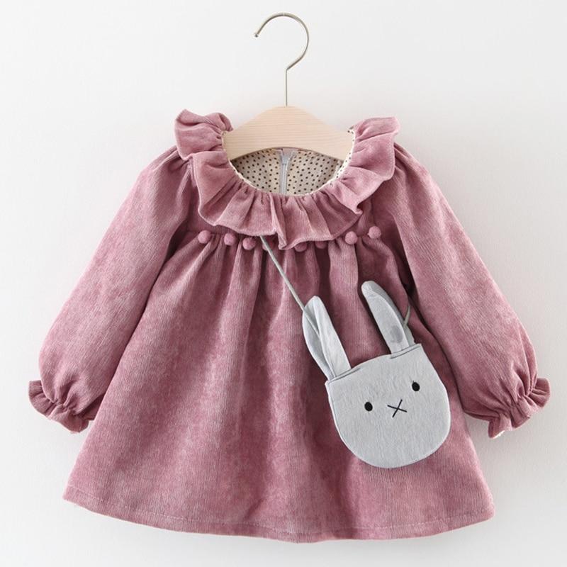 Melario Newborn Baby Girl Dress Spring Princess Dresses For Kids Dress Cartoon Baby Dress With Bag Infant Clothing Toddler Dress