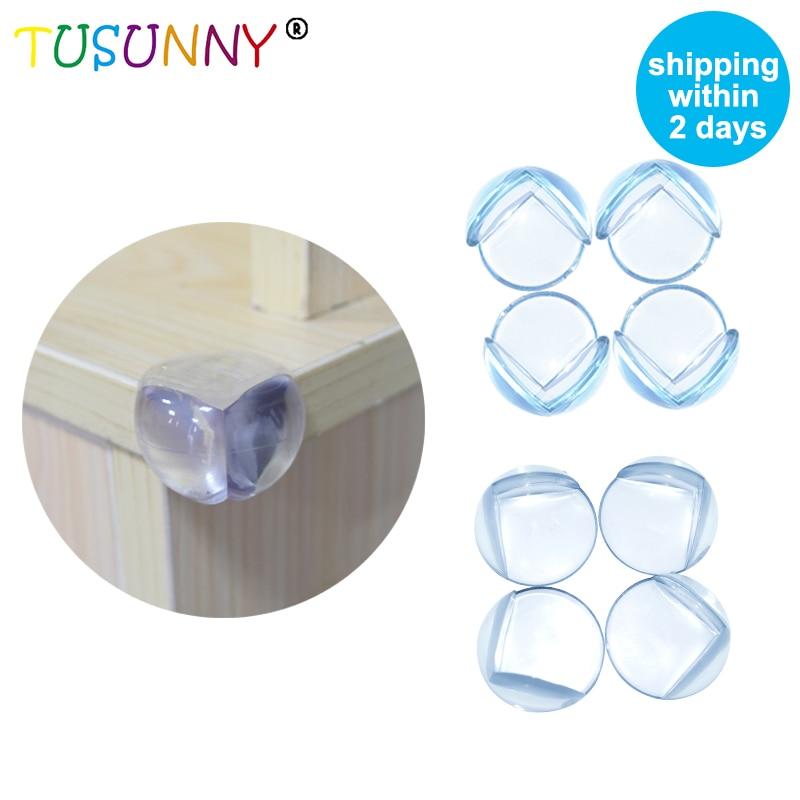 TUSUNNY 10 unids/lote clara de PVC borde ángulos niño la protección de la seguridad del bebé de silicona de las esquinas del Gabinete de escritorio Sharp protectores para las esquinas de las mesas