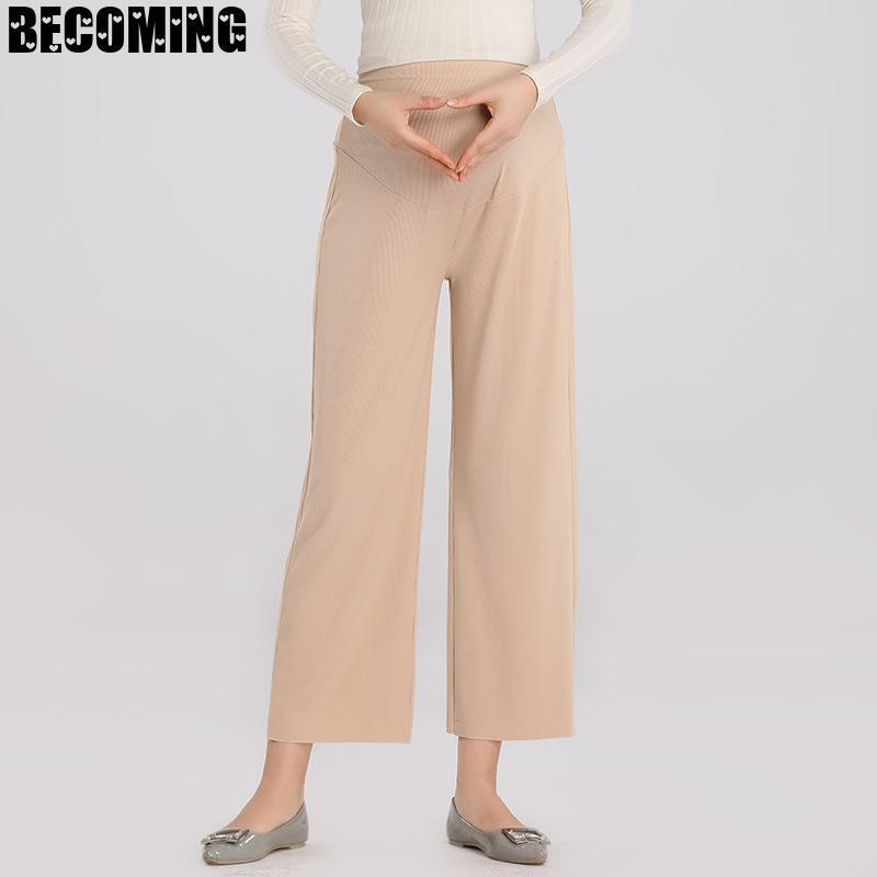Maternity Wide Leg Pants Pregnant Pant office Capris Pregnant Trouser Pregnant Women Pregnancy Pant Plus Size Maternity Trousers enlarge