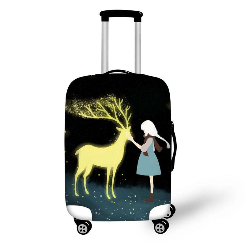 Чемодан с мультяшным изображением, защитный чехол для чемоданов, чемоданов от пыли для чемоданов от 18 до 30 дюймов