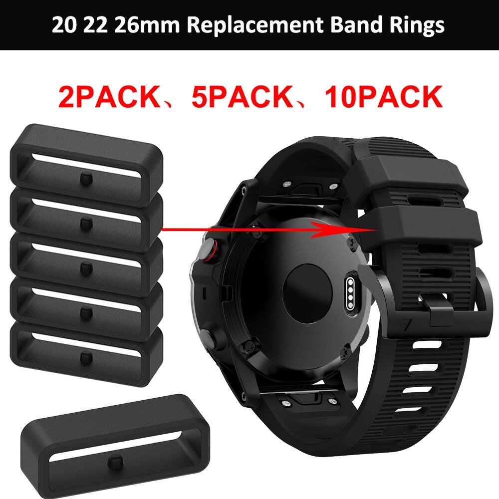 20mm 22mm 26mm replacement silicone ring For Garmin Fenix 6X 6X 6 Pro 5X 5S 5 Plus watch band keeper