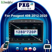 PX6 магнитола автомобильный радиоприемник 2 din Android 10 Автомагнитола для PEUGEOT 308 408 2010 2011 2012 2013 2014 2015 2016 Мультимедиа Стерео GPS навигации радио навигатор