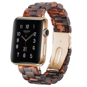 18 colors Italian Resin Band for APPLE Watch 4 44MM/42MM Iwatch 40mm 38mm Bracelet Wrist Ceramic Strap Apple Watch Watchband