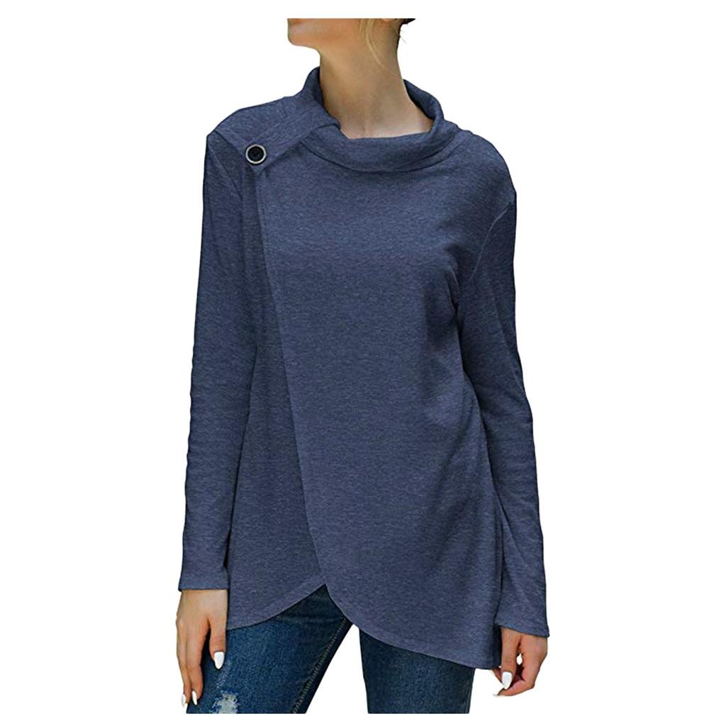 Women Turtleneck Tshirt Women Loose Lightweight Pullover Tunic Tops  Women T Shirt