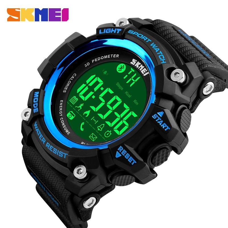 SKMEI-ساعات رجالية مقاومة للماء ، رقمية ، عسكرية ، خارجية ، LED ، إلكترونية ، ذكر