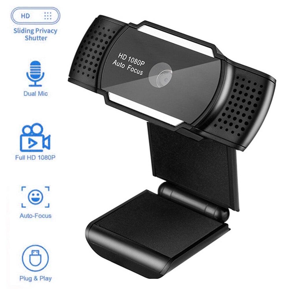 كاميرا ويب صغيرة مع ميكروفون HD 1080P 4K 5MP تركيز تلقائي كاميرا ويب كمبيوتر محمول كاميرا كمبيوتر للفيديو بث مباشر الاجتماع