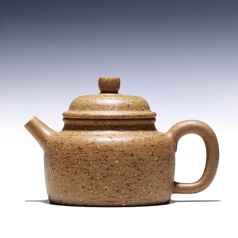 إبريق شاي يدوي نقي ، وعاء ساعة أصفر من JiJunHe غير مولد ، yixing ، 150 سم مكعب