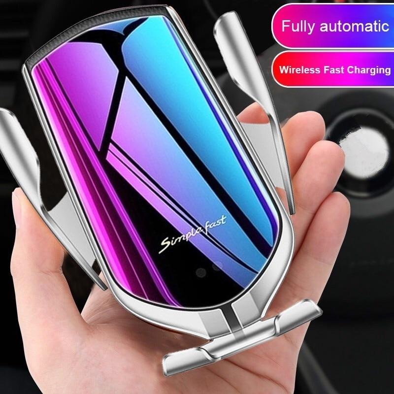 Cargador de coche inalámbrico para Samsung S10e S10 S9 S8 Plus Note 10 + 9 8 Simplefast Sensor automático soporte de teléfono inalámbrico cargador rápido