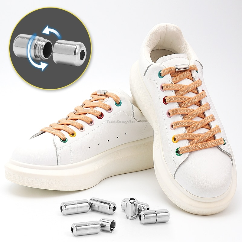 New Flat No Tie Shoe laces Elastic Laces without ties Shoelaces for Sneakers Kids Adult Quick Shoe lace Rubber Bands Shoestring