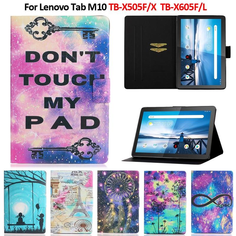 """Color pintado tableta magnética caso para Funda Lenovo Tab M10 caso TB-X605F/L TB-X505X/F/L para Coque Lenovo Tab M10 10,1"""""""