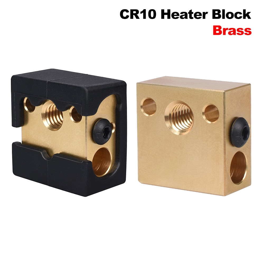High Quality Brass CR10 Heater Block MK8 Silicone Sock For Swiss Cr10 Hotend Ender 3 Mk7/Mk8/Mk9 J-head Extruder Heat Block