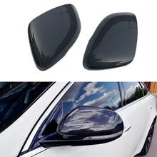 CITALL Carbon Fiber Style Door Rearview Side Mirror Cover Cap Fit for Jaguar XE XK XF XJ XKR 2012 2013 2014 2015 2016 2017 2018
