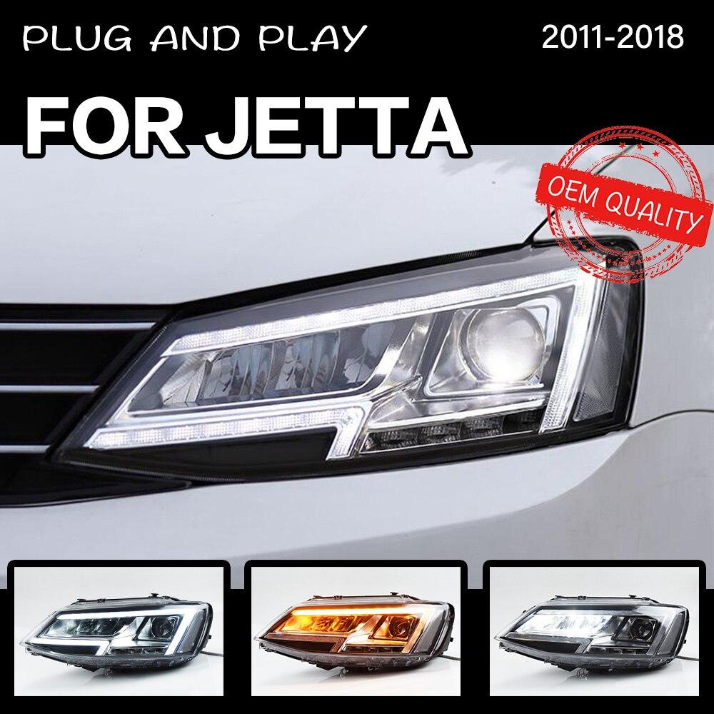 Estilo de coche para VW jetta mk6 mk7 2011-2018, faro delantero LED de viaje, reemplazo de faros LED de proyector Dual