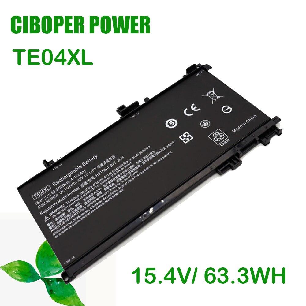CP حقيقية بطارية TE04XL 15.4V/63.3WH ل 15-AX200 15- AX218TX 15-AX210TX 15-AX235NF 15-AX202N 15-BC200 HSTNN-DB7T 15 TPN-Q173