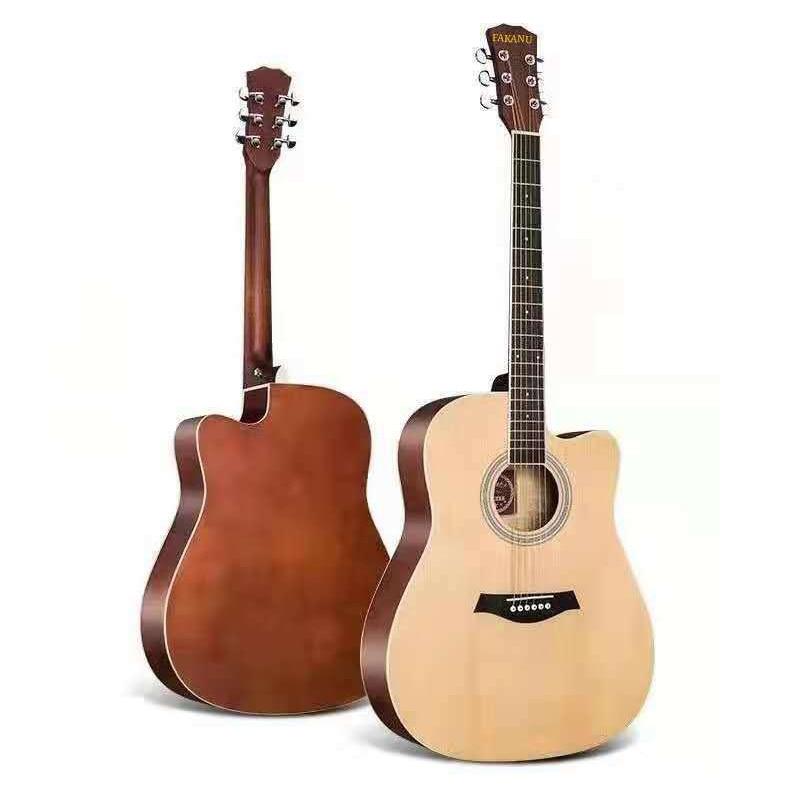 41/38 inch Acoustic Guitar for Beginners Adults Folk Guitar Sets with Capo Picks Bag 6 Strings Guitar Best Gift or Kids AGT16 enlarge