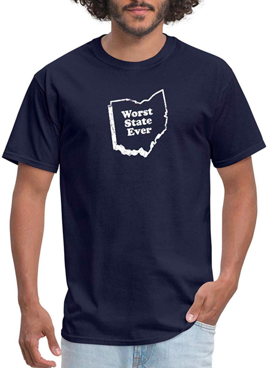 Camiseta unisex para hombres y mujeres del Estado de Ohio