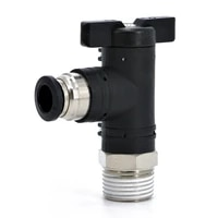 bl pneumatic quick connector male thread 18 14 38 12 ball valve switch pu hose flow manual rotary valve manual valve