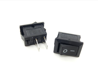original new 100% united states import ms90310 221 gold pin toggle switch 2pin on off ON/OFF KCD1-101 Rocker Switch 10*15mm 117S 2-Pin 250V3A 125V6A ON-OFF Black Plastic 2Pin dip 10pcs/lot