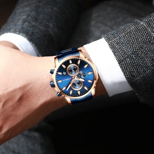 Top Luxury Brand CURREN  Sport Quartz Watch Men Watch With Luminous Hands Chronograph Auto Date Fashion Stainless Steel Watch