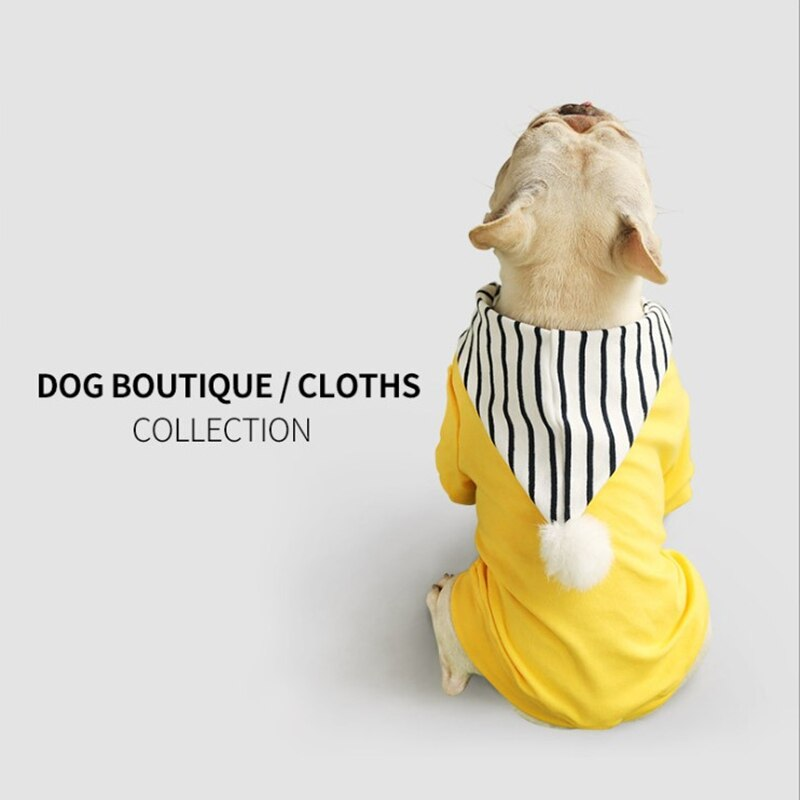 Otoño e invierno ropa con capucha para mascotas suéter de perro cálido y cómodo de las corridas de toros Schnauzer ropa