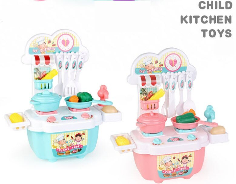 Creative Kitchen Toy Set For Children Funny Cook Game DIY Kitchen Cooking Simulation Toy Set Home Play Toys недорого