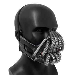 Bane Mask Helmet Adult Size Movie Latex Cosplay Party Halloween Costume Props