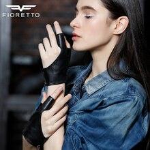 Fioretto gants en cuir et sans doigts   Pour femmes, gants de danse, Punk, gants de conduite, gants de 2 doigts opéra, gris et noirs