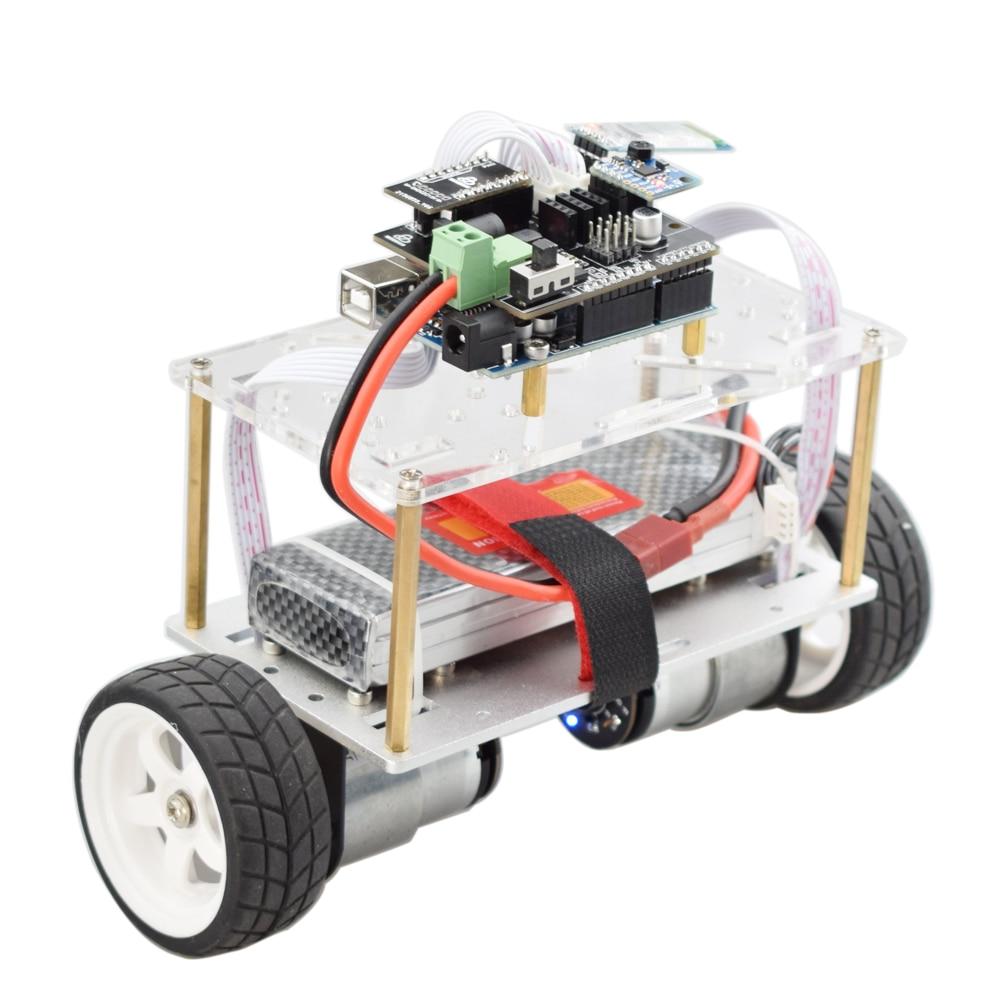 Arduino Two wheel Balancing Car Self-balancing Robot Kit with HC06 Bluetooth APP Control UNO R3 MPU6050 for DIY PID Automation