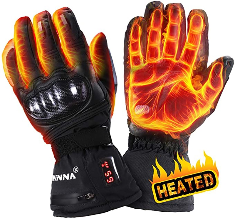 Winter Warm 2200mAh Battery Rechargeable Electric Heated Glove Waterproof Windproof Heating Gloves For sports bike Riding Skiing