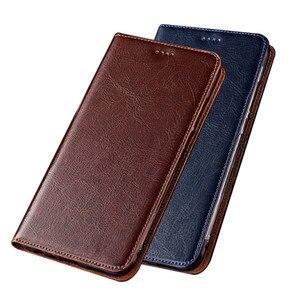 Crazy Horse Genuine Leather Flip Case Card Holder For Vivo Y53S 5G/Vivo Y52 5G/Vivo X70T/Vivo X60T Phone Case Magnetic Holder