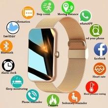 LIGE New Smart Band Women Watch Fitness Tracker Bracelet Waterproof Smartwatch Heart Rate Monitor Bl