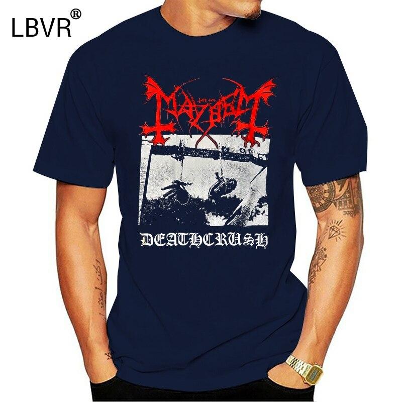 Camiseta Mayhem Deathcrush, diferentes tamaños, una banda de Metal, nueva nación, 100% algodón, letra impresa, camisetas, camiseta, tallas grandes