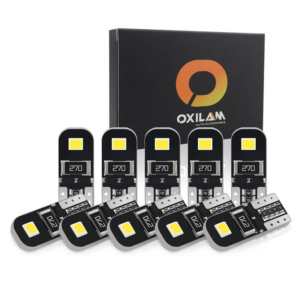 10x T10 Led Canbus W5W Led luces interiores para BMW f10 f20 f11 e87 e46 e36 e60 e90 e39 x5 e53 e70 libre de Error Auto Led lámparas 12V 12V