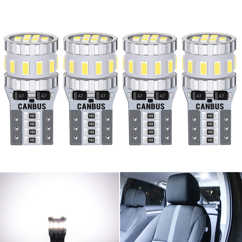 4 Uds T10 bombilla LED Canbus W5W 168 de luz de estacionamiento para Mercedes Benz W204 W176 W169 W203 W164 W220 w212 Sprinter A C E SLK
