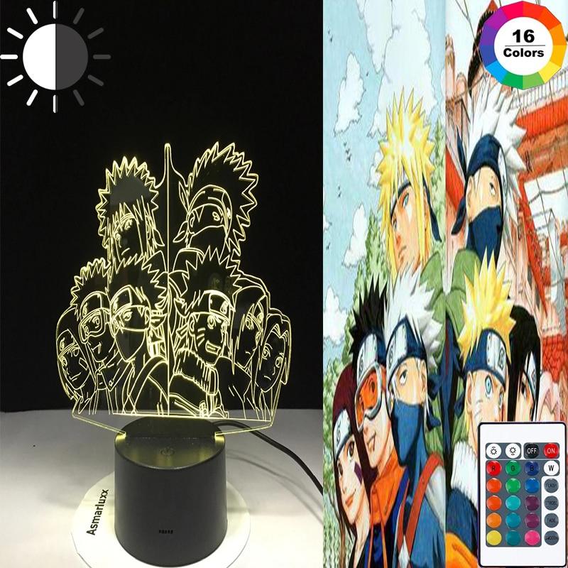 Lámpara LED De Colores para dormitorio, Luces nocturnas De Anime, táctil e...