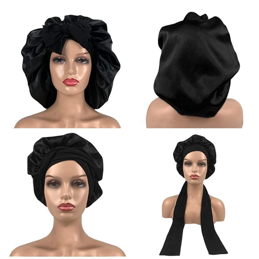 Cap Bonnet Turban Hat Satin Sleeping Head Shower Women High Girls