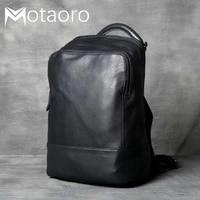 men anti theft travel backpack genuine leather shoulder bag retro practical handmade man and women bagpack sac a dos rucksack