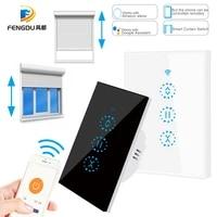 Interrupteur tactile intelligent pour rideaux et portes de Garage  wi-fi  US  avec Alexa et Google Assistant  pour maison connectee