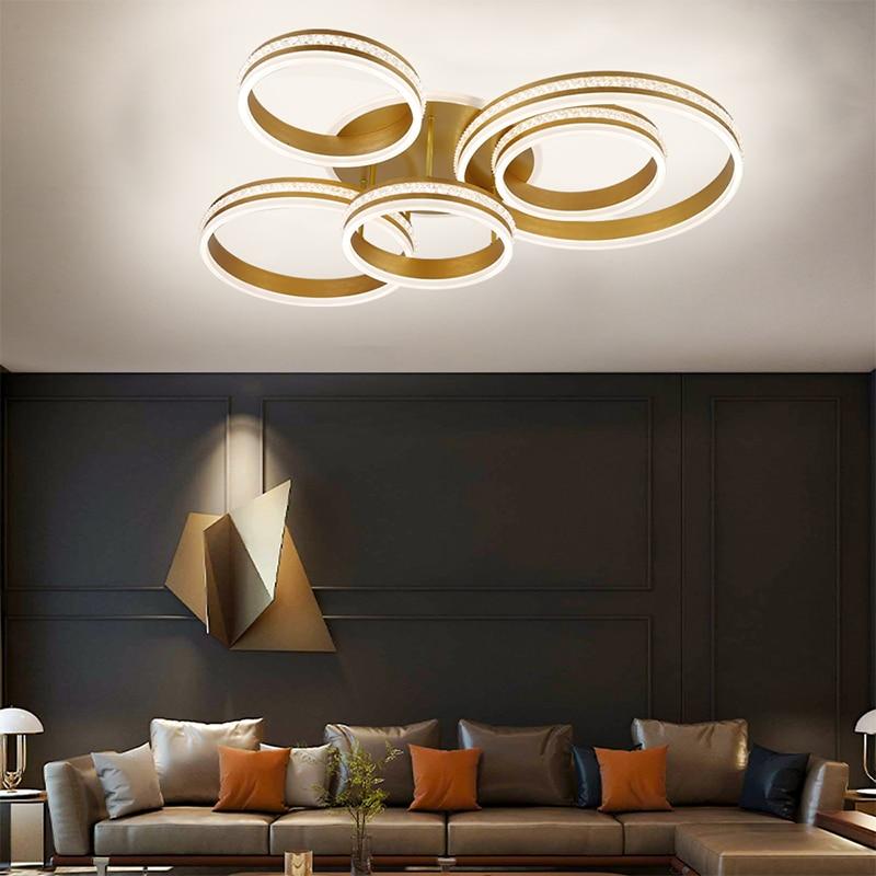 Modern living room LED ceiling lamp bedroom lighting villa restaurant lamp hotel guest room lighting aluminum alloy material