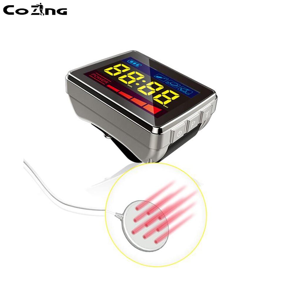 LLLT лазерные часы Иглоукалывание Стимулятор 650 нм низкий уровень лазерная терапия диабет артрит