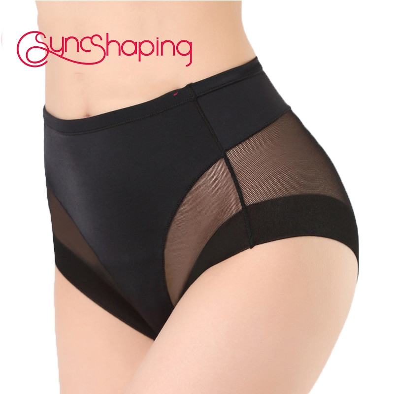 Seamfree Breathable Mesh Intimates Body Shaping Panties Female Pants High Elastic Control Brief Slimming Belly Underwear
