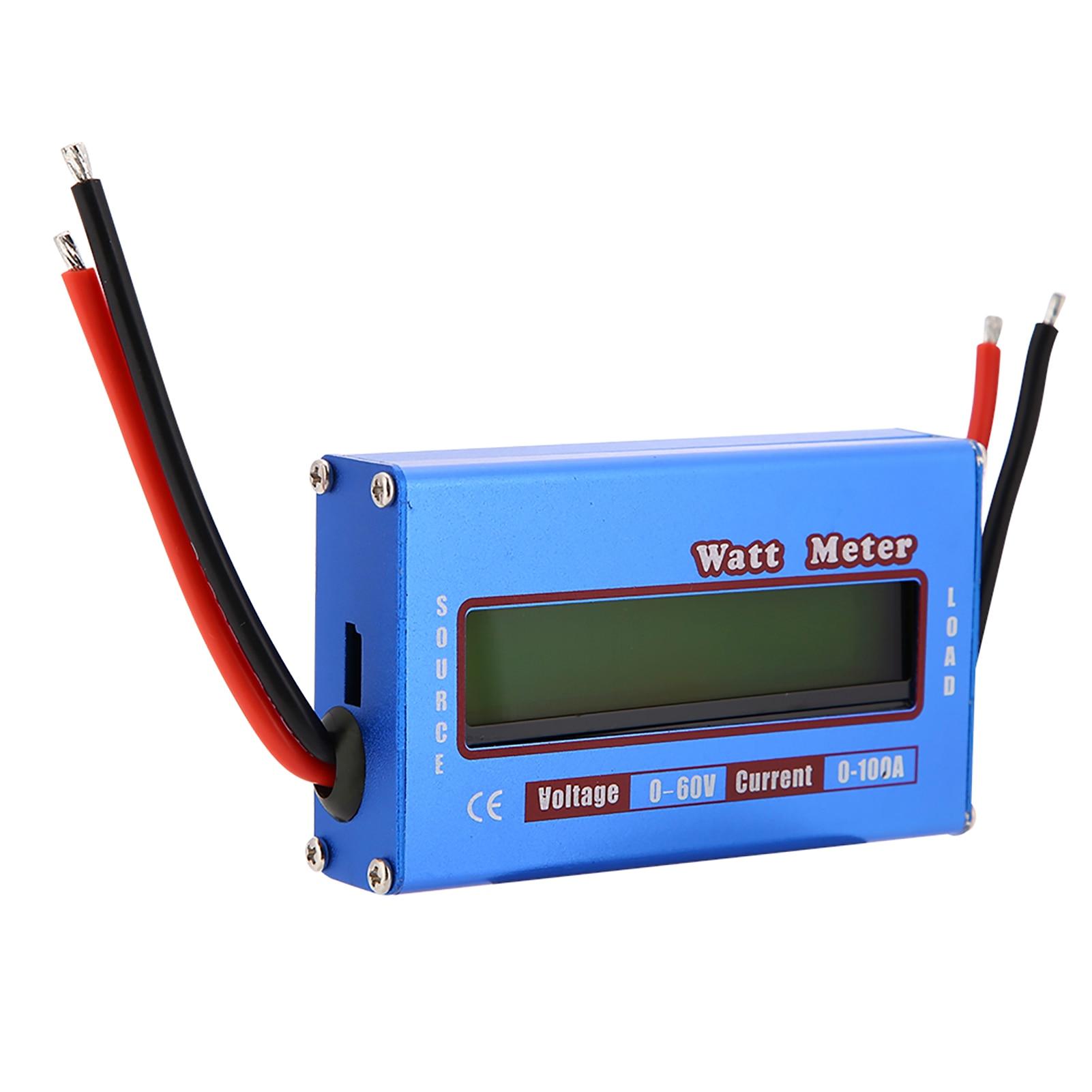 RC Digital Wattmeter Watt Meter Checker Medidor De Energia DC 60 v 100A Analisador De Potência Tensão Equilíbrio Bateria