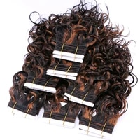double weft wavy hair bundles bohemian high temperature synthetic hair extensions 100 gram one piece for black women