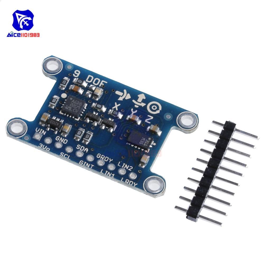 Diymore 9 Axis IMU L3GD20 LSM303D модуль 9DOF компас ускорение цифровой гироскоп датчик для Arduino 3-5V IIC/SPI протокол