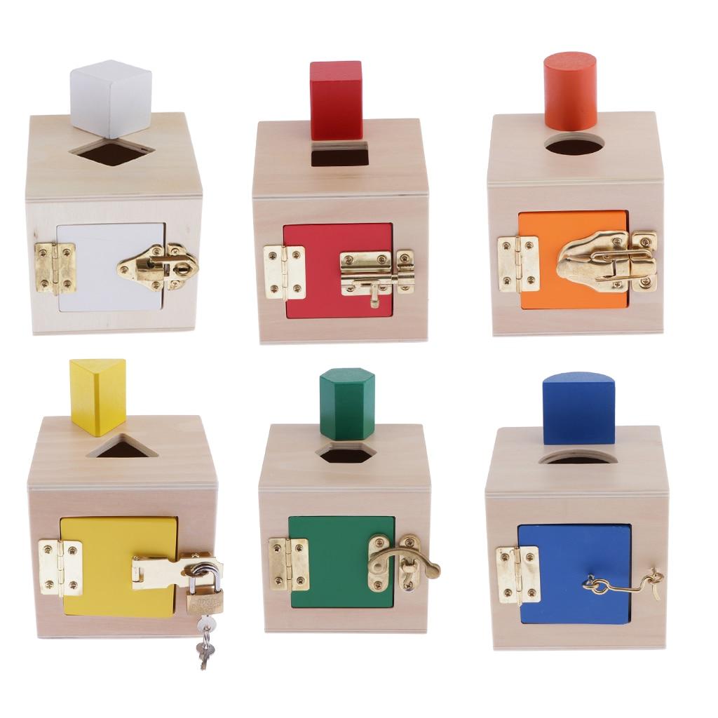 Caja de Seguridad Montessori creativa, juguetes educativos para niños a juego, materiales educativos Montessori de madera, juguete sensorial