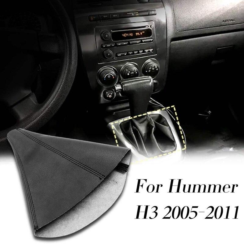 Carro automático shift boot shift poeira capa de couro do deslocamento de engrenagem para hummer h3 2005-2011