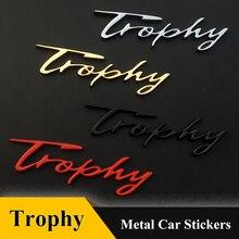 1 pièces 3D autocollant de voiture en métal Auto Grille Badge trophée autocollant de voiture